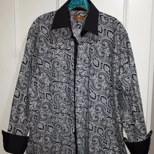 👔👔Steven Land Paisley French Cuff Shirt NWOT